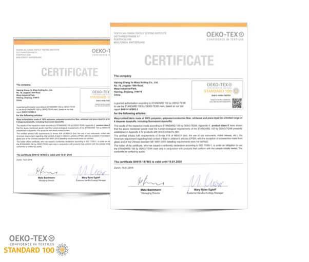 OEKO-TEX Certifications