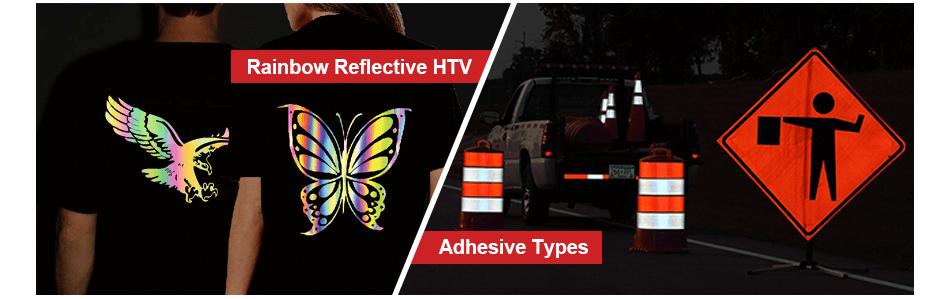 applications of rainbow reflective heat transfer vinyl2