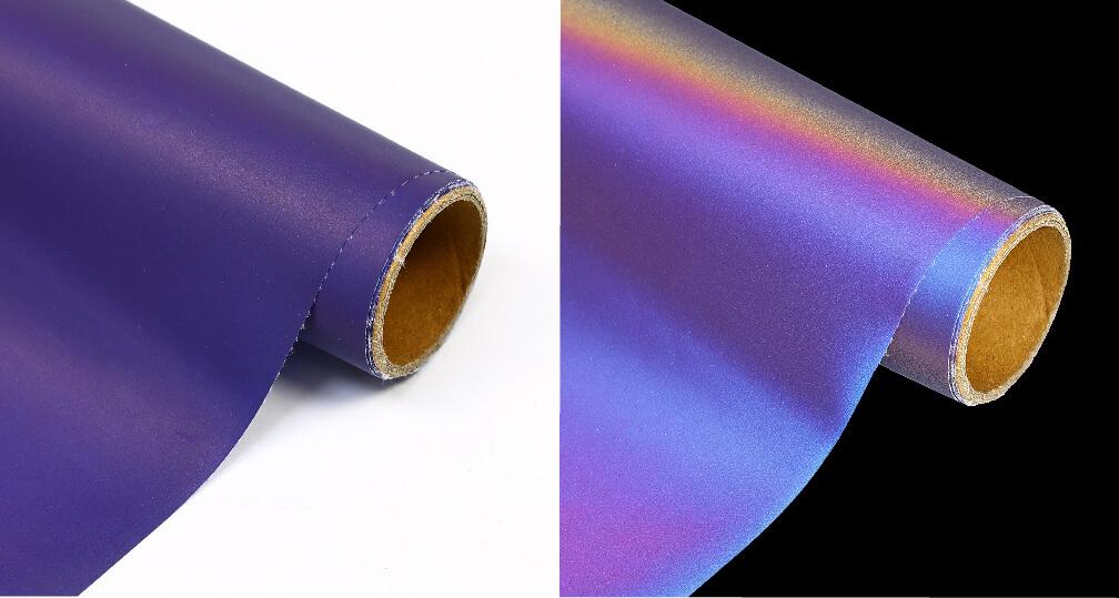 blue purple-light Rainbow Reflective Heat Transfer Vinyl