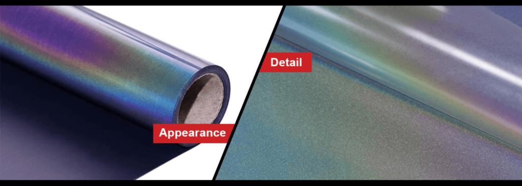 how does rainbow reflective heat transfer vinyl work
