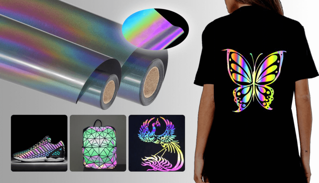 the uses of rainbow reflective heat transfer vinyl