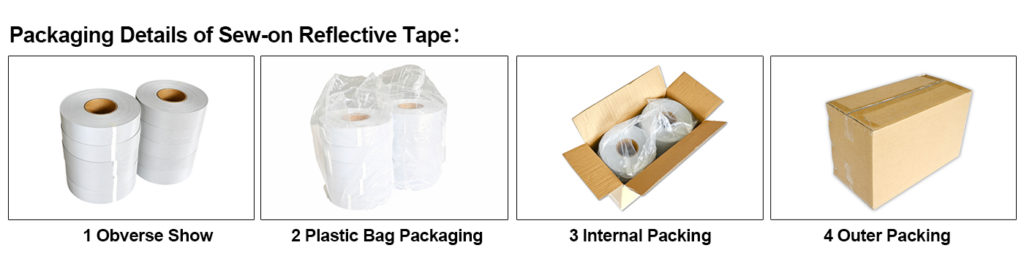 Packing Of Sew On Reflective Tape