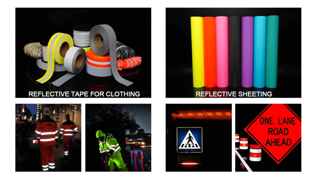 different of reflective tape for clothing