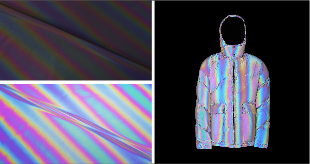 Holographic reflective fabric