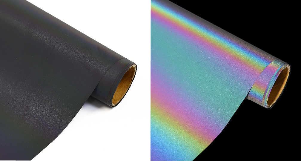 6. Rainbow Reflective Fabric Tape Iron On