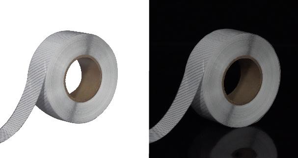 7. Segmented Reflective Fabric Tape Iron On