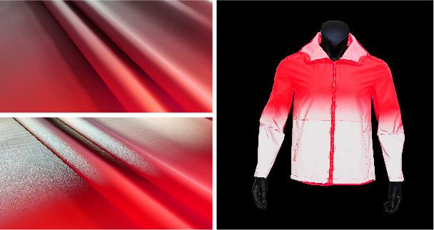 Gradient reflective fabric