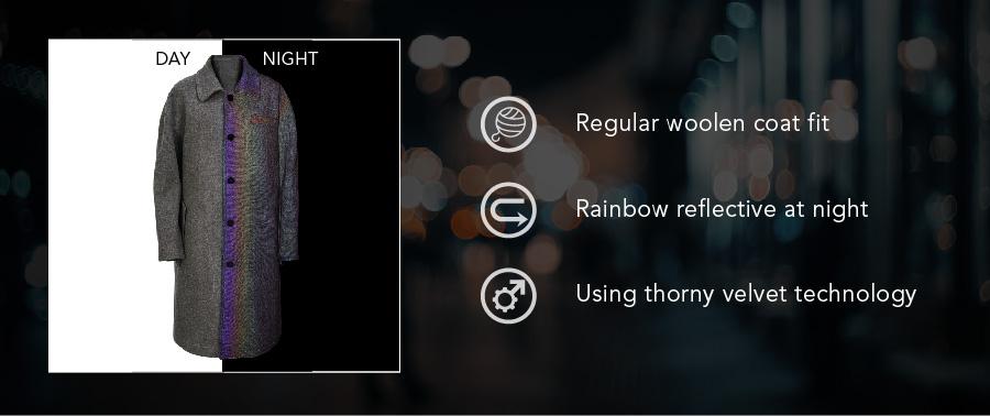 reflective fabric coat
