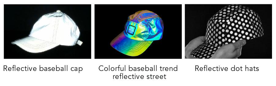 reflective fabric hat