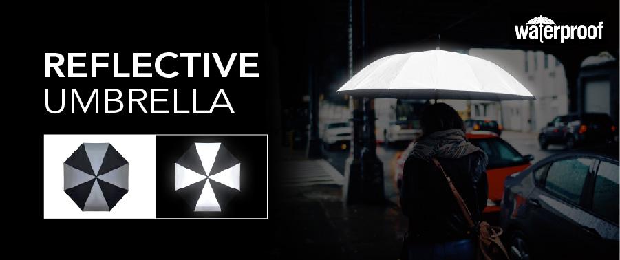 reflective fabric umbrella