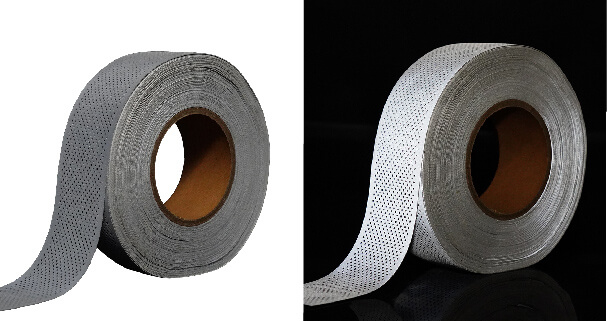 6. Perforated silver reflective clothing tape