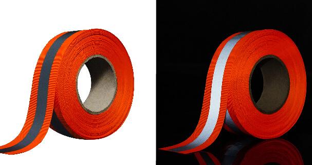 7. Orange silver reflective tape