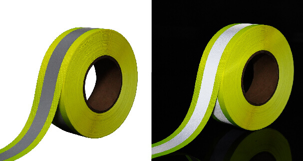8. Yellow and silver reflective tape
