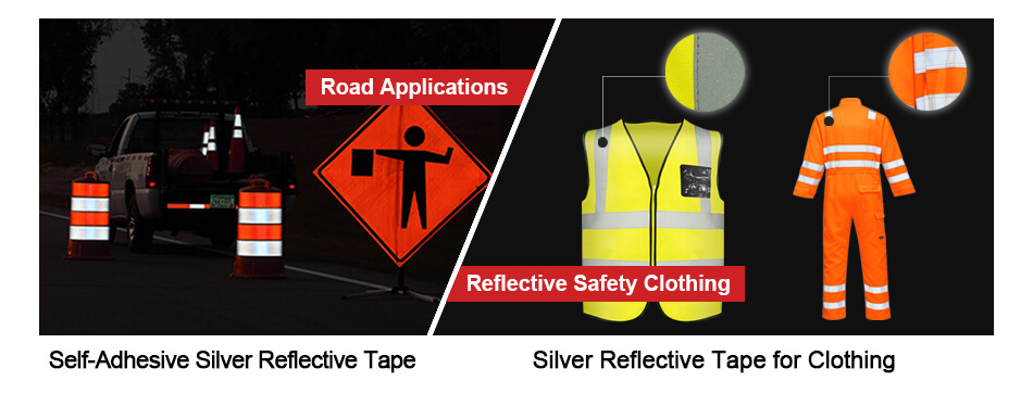 Application of Silver Reflective Tape-1