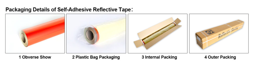 Packaging of Silver Reflective Material