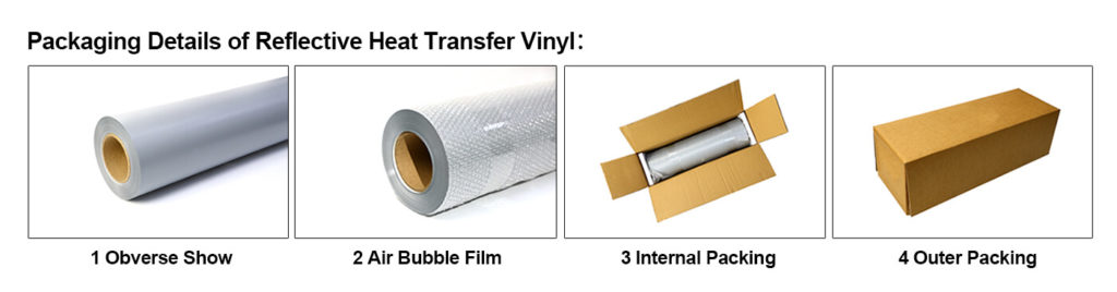 Packaging of Silver Reflective Tape For Clothing