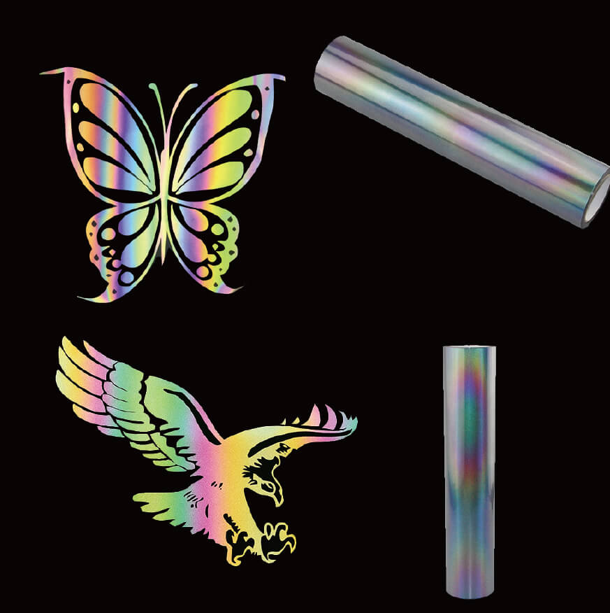 12. Rainbow Reflective Iron On