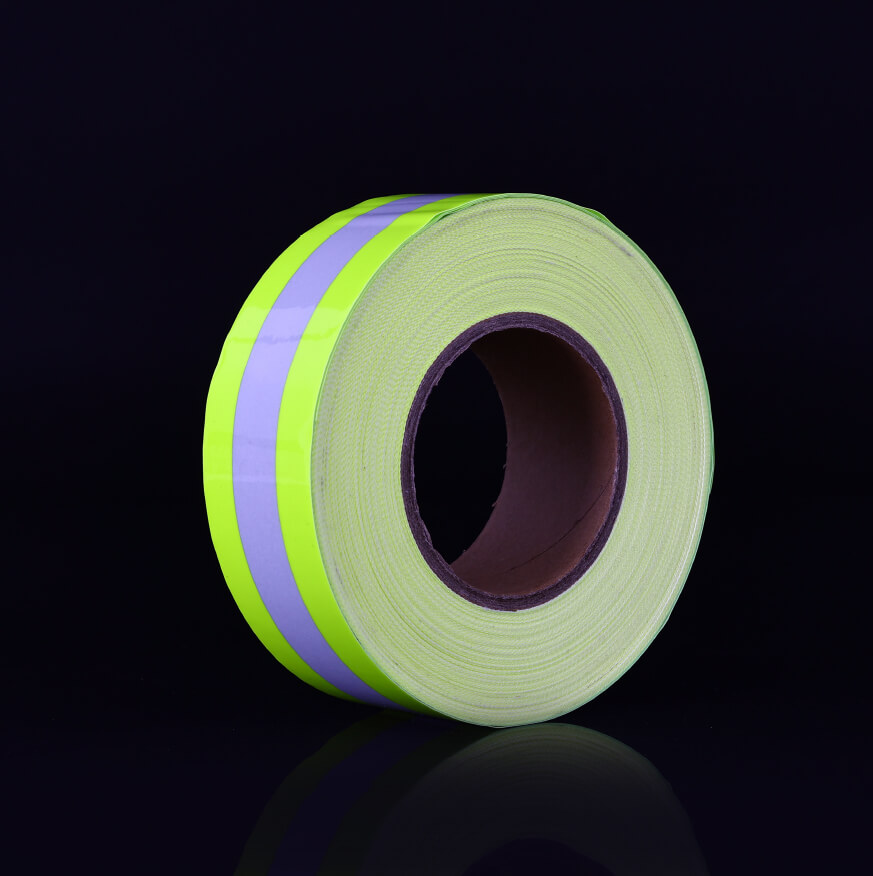 7. High Luster's Fluo-Yellow Warning Iron On Reflective Tape