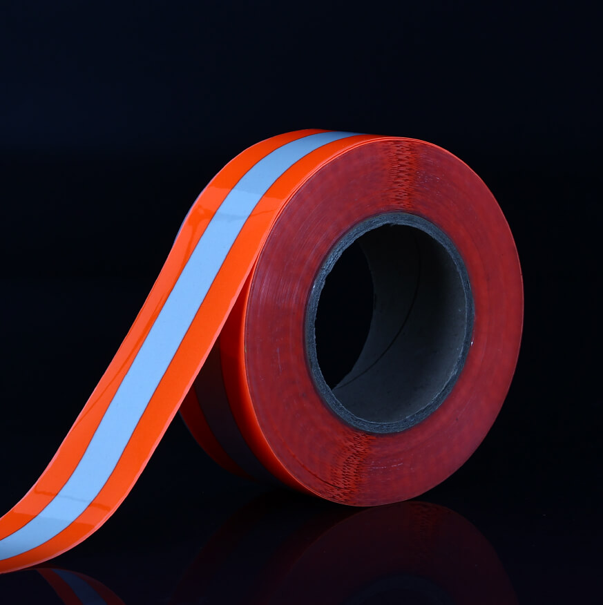 8. High Luster's Fluo-Red Warning Iron On Reflective Tape