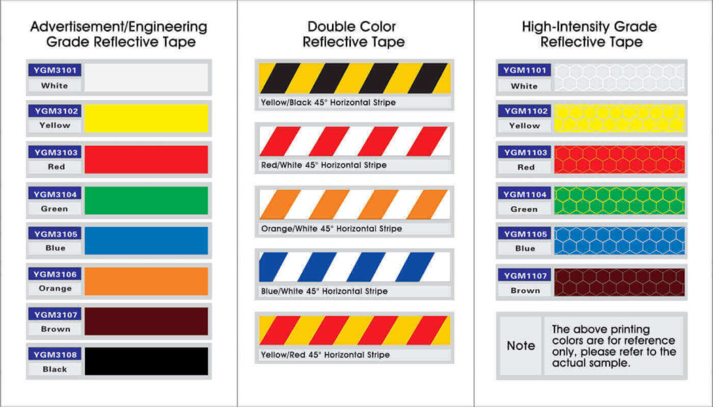 Colors of Reflective Tape