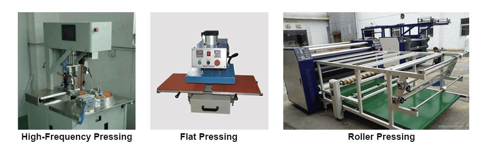 Pressing method of Reflective Heat Transfer