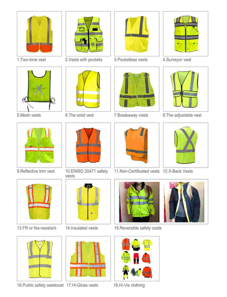 Styles of Safety Clothing Supplier